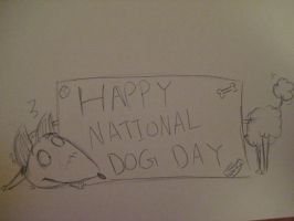 Happy National Dog Day (Sparky and Persephone) by kibadoglover45