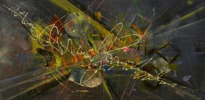 Abstract canvas painting : Aulade by Javier-Pena