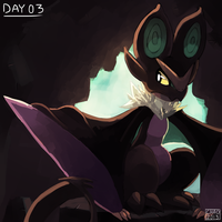 [Pokeddexxy] Day 03 - Noivern by ChocoChaoFun