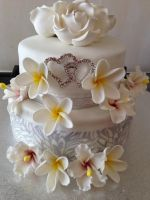 Two Tiered Bridal Shower Cake by AtaliaLight