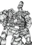 Warhammer 40K: Ultramarine and Ork by hairywookiee