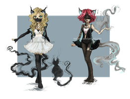 [CLOSED] Cat Phantom adoptables by Meluru