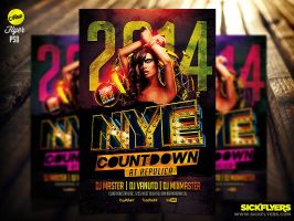New Year Flyer Template by Industrykidz
