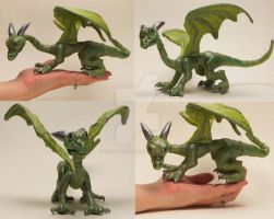 Baby Dragon Soft Sculpture by The-GoblinQueen