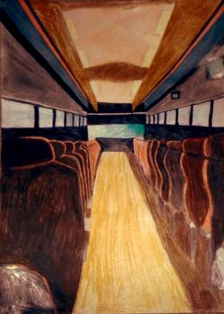 Coach Bus Perspective Drawing by dbzrocker910
