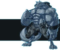 Ice Wolf by -adam-