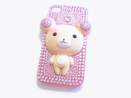 Rilakkuma Teddy Bear Deco Bling iPhone 4/4s Case by Kuppiecake