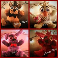 Five nights at freddy's plush set by TheHeirOfNight