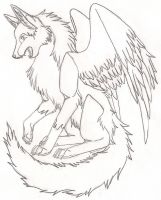 Another Winged Wolf by Karate-Foxes