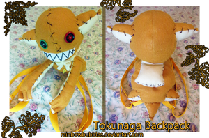Tokunaga Fan Plush Backpack Commission by Rainbowbubbles