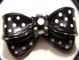 Black Bow Necklace by Shelby-JoJewelry