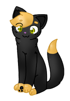 *meow!* ~ art trade by BreezesDoodles