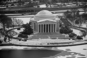 Jefferson Memorial BW by Wyco