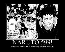 Naruto Manga Ch. 599-- Tobi's Face!--(Poster) by XPvtCabooseX