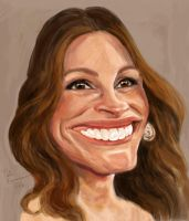 Julia Roberts caricature by Mandala87