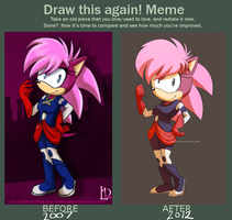 Draw this again! Meme starring Sonia by RianaLD