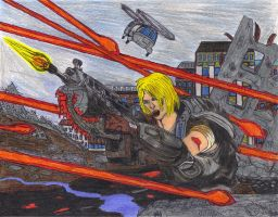Anya Stroud battles at Town. by DBZ2010