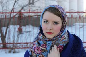 Blue shawl_2 by ShcheglinaT
