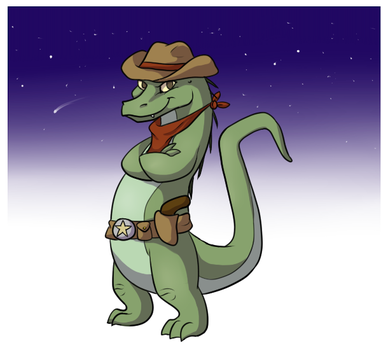 space cowboy alligator by kangaloon