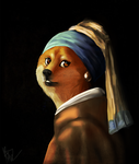 .: Doge with a Pearl Earring :. by Skitzo-Picklez