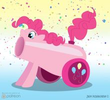 Pinkie the Cannon by mourning-dreams