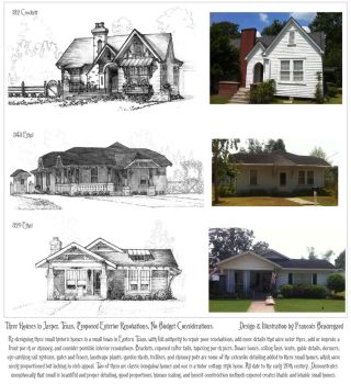 Proposed Renovations to Three Small Houses by Built4ever