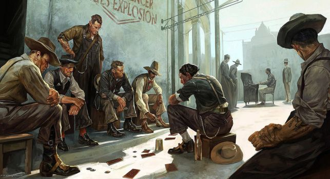 Dishonored 2 - People of Karnaca Concept Art by TheLabArtist