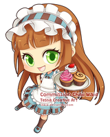 Commission Chibi Maid by Iksia