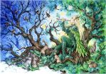 Springtime in Mirkwood by Candra