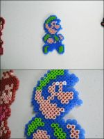 Super Mario Luigi bead sprite by 8bitcraft