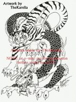 Tiger and Dragon_Tattoo Design by TheKarelia