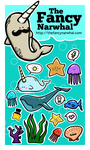 TheFancyNarwhal Sticker Set I by aunjuli