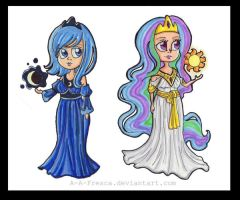 MLP - Human Celestia and Luna by A-A-Fresca