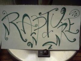 Rapture Calligraphy by xxBrandy