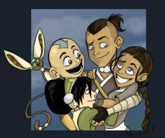 Avatar: The Aang Gang by Littlenlost