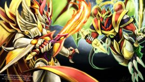 Overlord vs Thunder - Cardfight Vanguard by slifertheskydragon