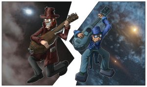 Guitar villains by Illmad