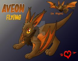 Aveon  - Flying Type Eeveelution by JamalPokemon