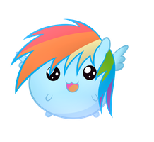 Chubby Dashie by HeavyMetalBronyYeah