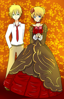 Beatrice and Usui by Lucky-KaiRi