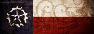 Steampunk Texas Flag Facebook Cover by CrystalKittyCat