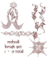 redLillith Mehndi set 1 by rL-Brushes