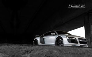 widescreen wallpaper audi r8 by albenyd
