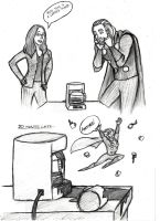 Thor And A Coffee Maker by Mirish