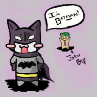 Batcat Chibi Time! by mnightthepet
