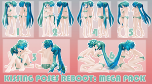 MMD Kissing Poses Pack REBOOT: Mega Pack Download by kitzabitza
