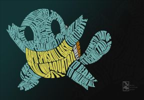 Squirtle Typography by bryanalcantaradesign