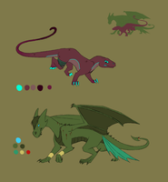 Nova and Dragon updated duel ref by Areetala