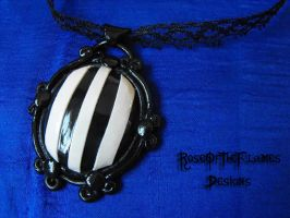 Goth necklace by RoseOfTheFlames