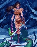 Barbarian Woman -Colored by DawnieDA